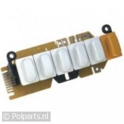 Schakelaar druktoets -5 DPS- wit
