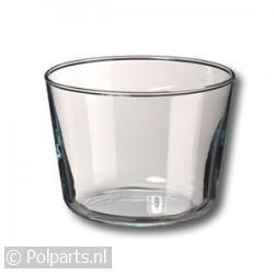 Glazen beker 600 ml.