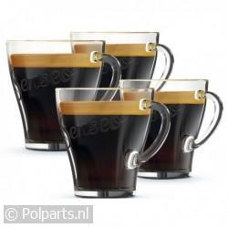 Senseo exclusieve glazen kopjes -4 stuks-