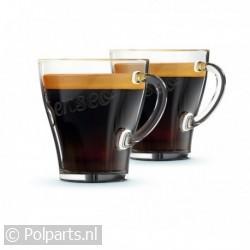 Senseo exclusieve glazen kopjes -2 stuks-