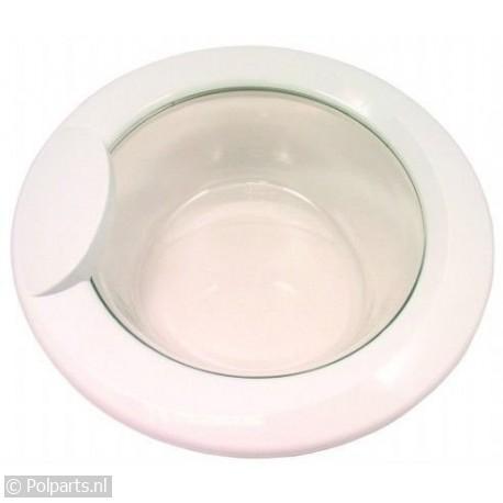 Vuldeur compleet wit schuin glas