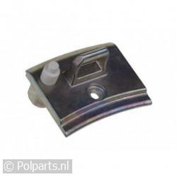 Deurhaak metaal -met veerknop-