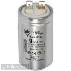 Condensator 9uF aanloopcondensator