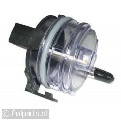 Schakelaar bij watercollector sensor