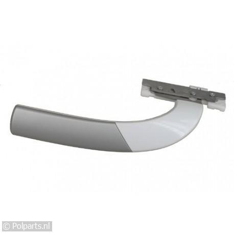 Handgreep wit/zilver gebogen 22cm