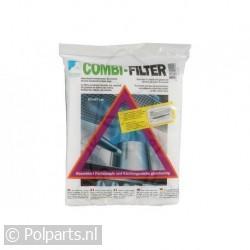 Filter koolstof -zwart- dik