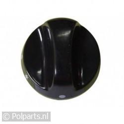 Gasknop zwart frontbediening